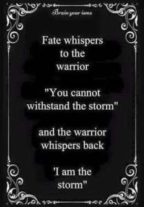 "This year, ""I am the storm!"""